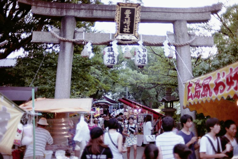 神社のお祭り