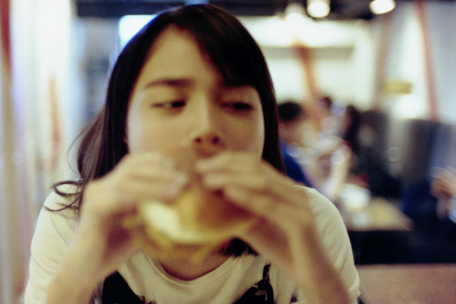 ハンバーガーのランチ