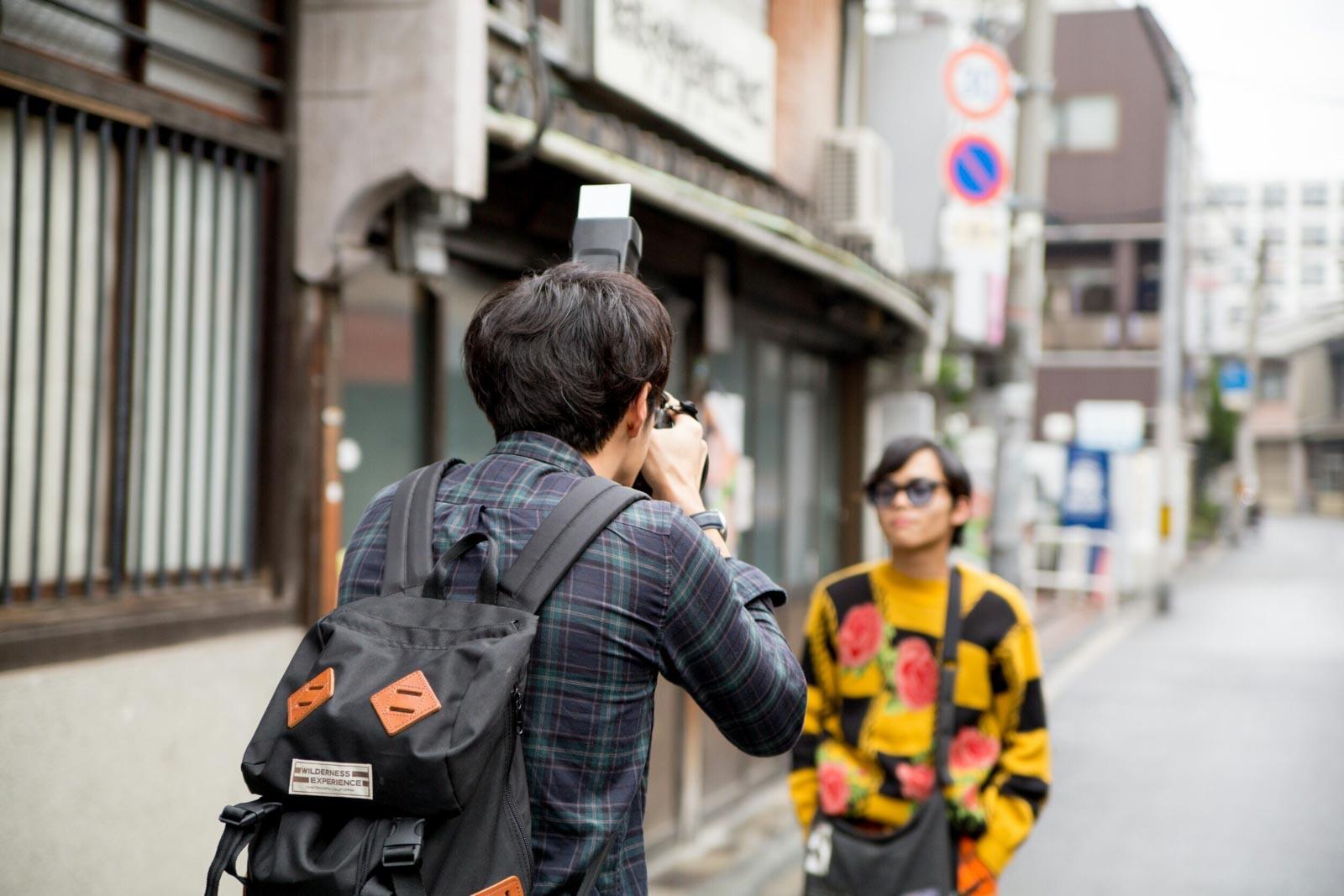 ファッションスナップ写真撮影