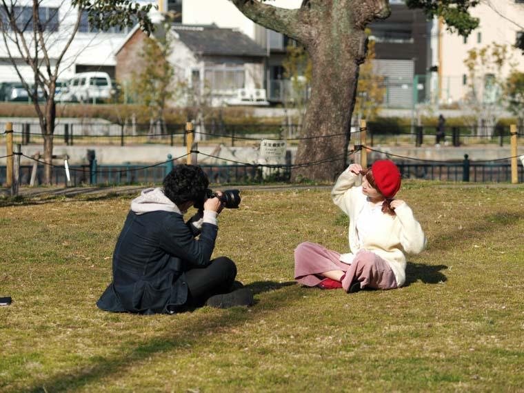中之島で撮る天真爛漫な女性ポートレート!モデル河田奈津子!
