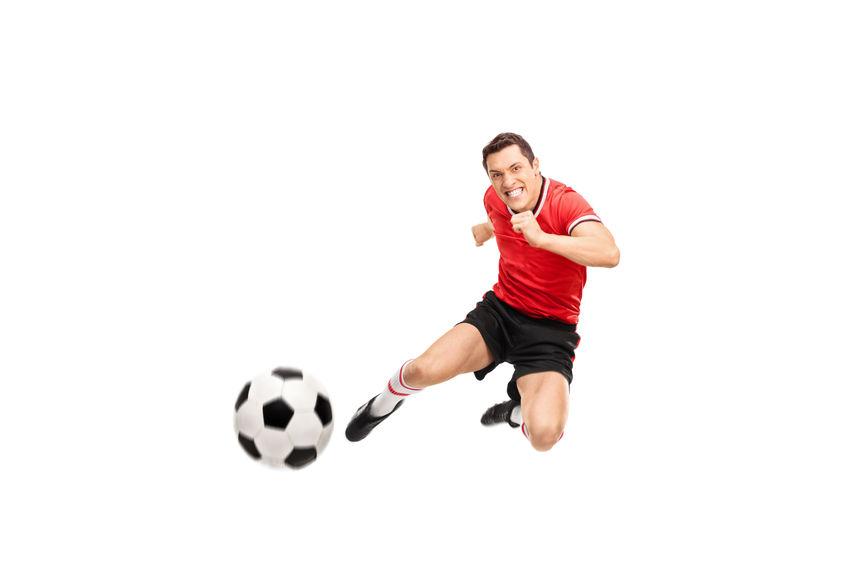 撮影終わりにサッカー