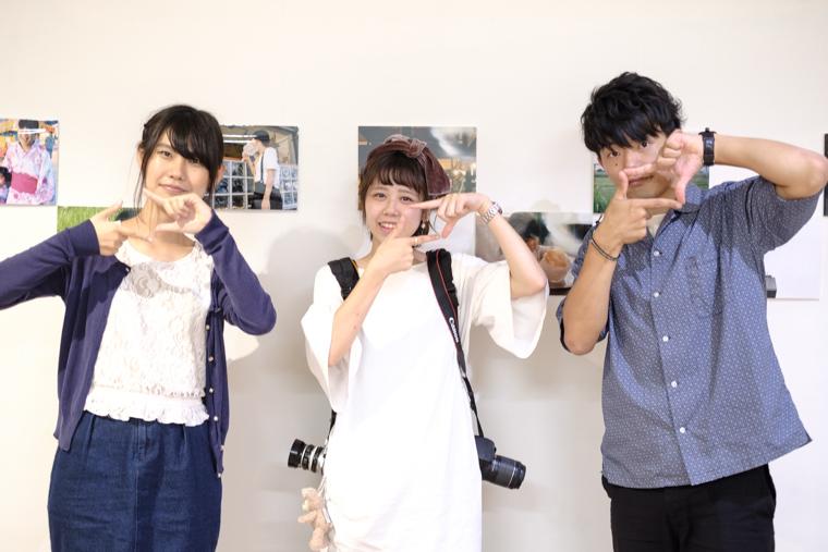 大隅写真部のメンバーと小野友暉と野崎梨奈