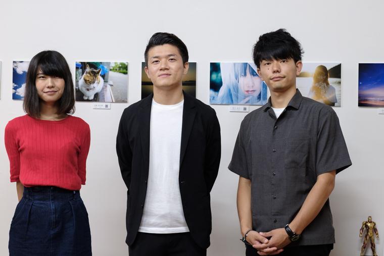 大隅写真部のリーダーと小野友暉と野崎梨奈