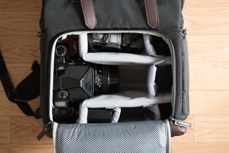 Bagsmartのカメラバッグリアルな機材