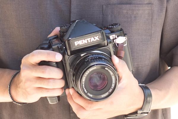 PENTAX67Ⅱでポートレート