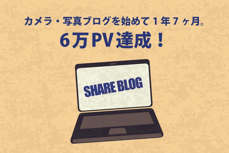 カメラ・写真ブログを始めて1年7ヶ月。6万PV達成!