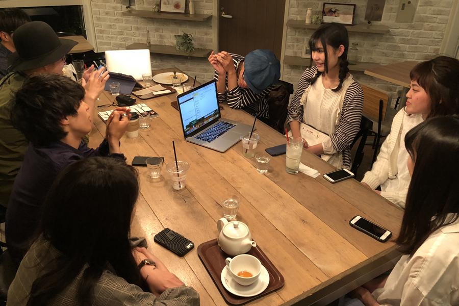 関西写真部メンバーでRe:cafeについての打ち合わせ