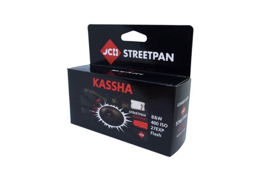 【数量限定】27枚撮りモノクロ使い捨てカメラ「JCH StreetPan Kassha」